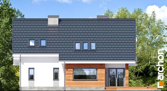 Elewacja ogrodowa projekt dom w miodokwiatach 3 p  267
