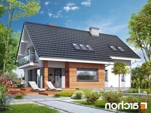 projekt Dom w miodokwiatach 3 (P) lustrzane odbicie 2