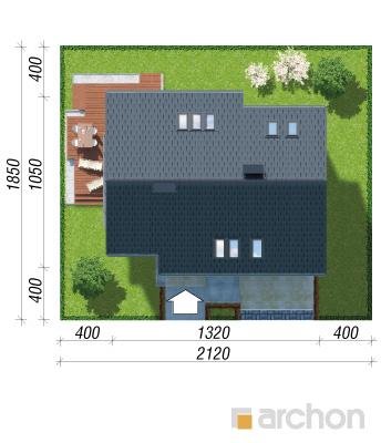 projekt Dom w miodokwiatach 3 (P) sytuacja
