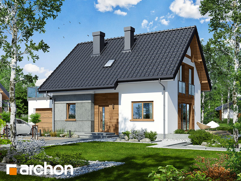 gotowy projekt Dom w zielistkach (GNTA) widok 1