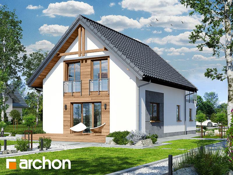 gotowy projekt Dom w zielistkach (GNTA) widok 2