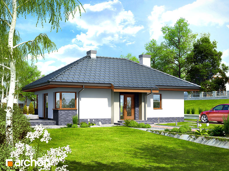projekt domu dom w maj wkach archon. Black Bedroom Furniture Sets. Home Design Ideas