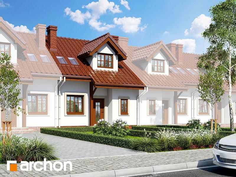gotowy projekt Dom w cyklamenach 2 (S) widok 1