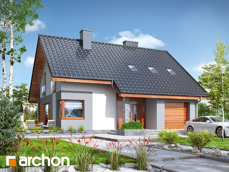 gotowy projekt Dom w żurawkach 7 (T) widok 1