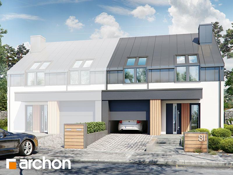 gotowy projekt Dom w narcyzach 2 (B) widok 1