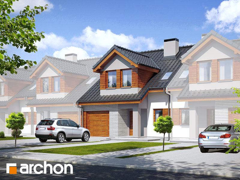 gotowy projekt Dom w klematisach 9 (S) widok 1