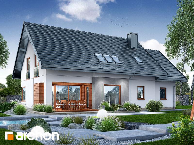 gotowy projekt Dom w afaskach widok 1