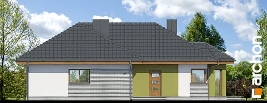 Elewacja boczna projekt dom w powojach 2 ver 2  265