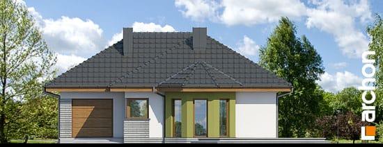 Elewacja frontowa projekt dom w powojach 2 ver 2  264