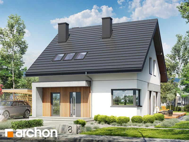 gotowy projekt Dom w krynkach widok 1