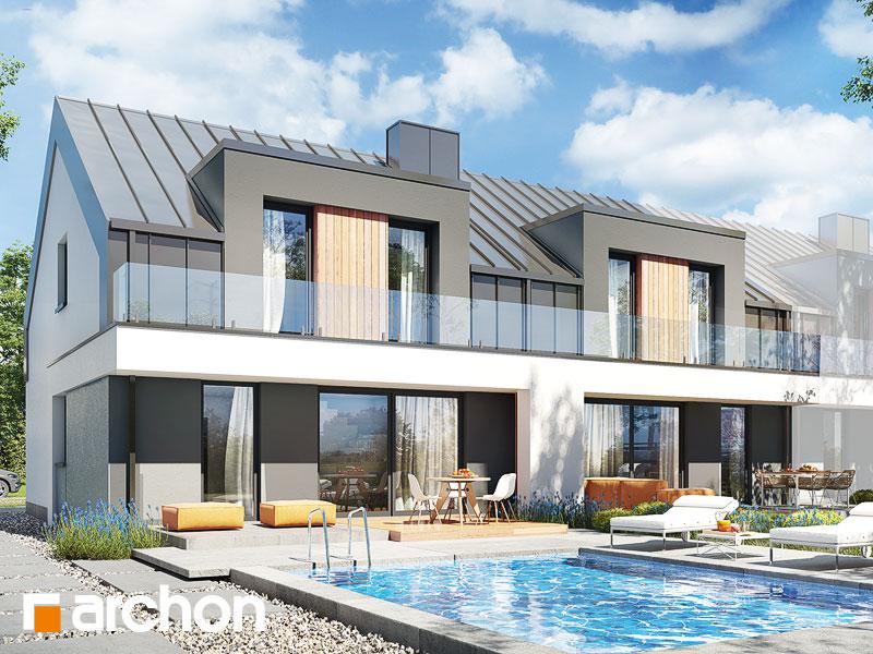 gotowy projekt Dom w klematisach 27 (R2B) widok 1