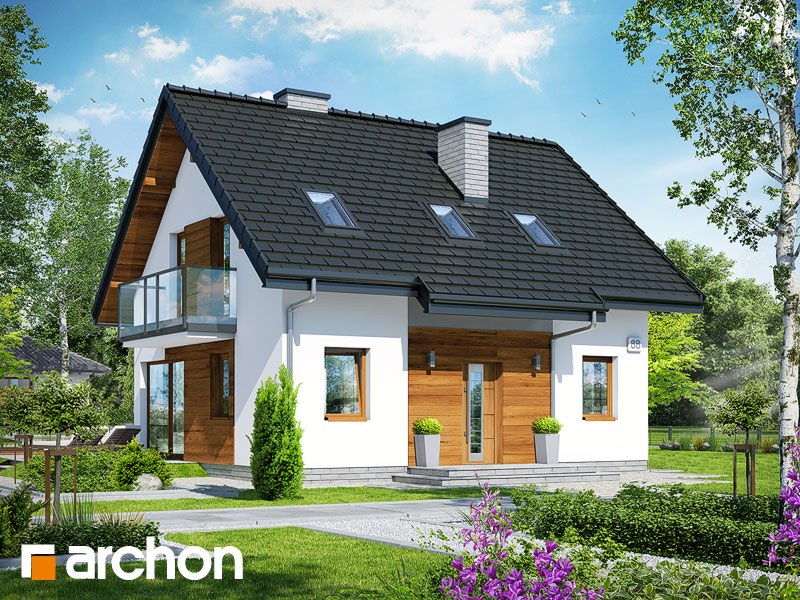 gotowy projekt Dom w borówkach 4 widok 1