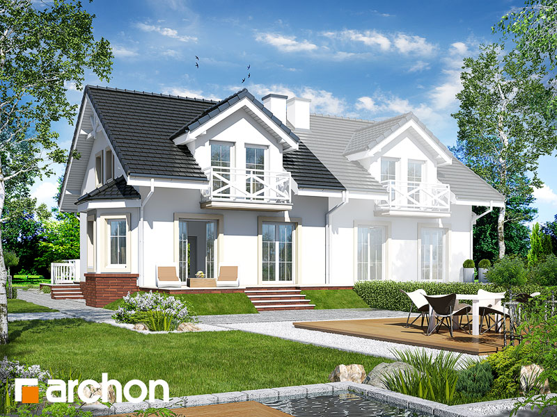 gotowy projekt Dom w przytuliach widok 1