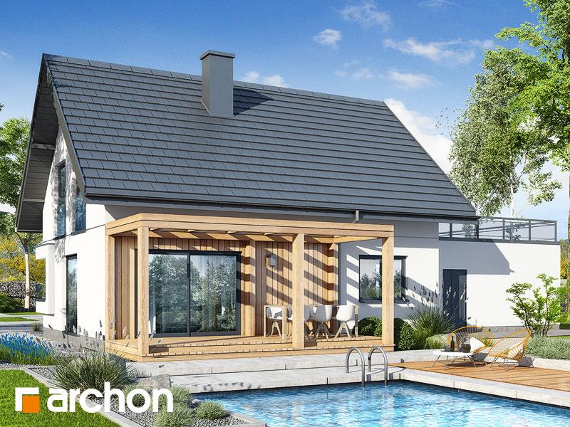 gotowy projekt Dom w zielistkach 19 (G2P) widok 2