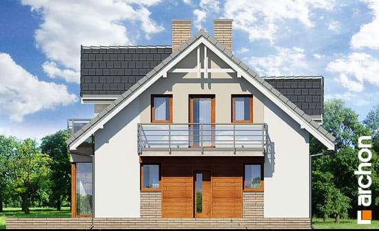 Elewacja frontowa projekt dom w rododendronach 5 wnt  264