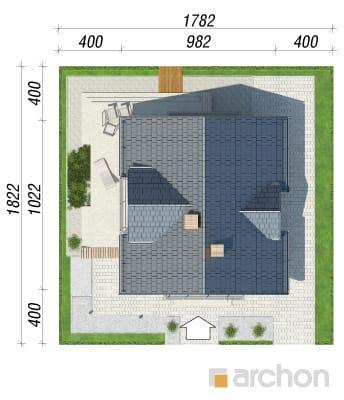 projekt Dom w rododendronach 5 (WNT) sytuacja