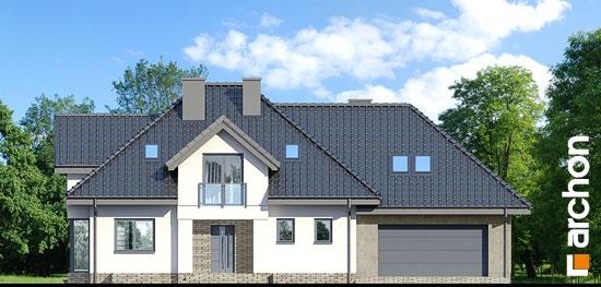 Elewacja frontowa projekt dom w sliwach g2p  264
