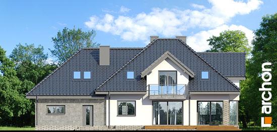 Elewacja ogrodowa projekt dom w sliwach g2p  267