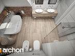 projekt Dom w śliwach (G2P) Wizualizacja łazienki (wizualizacja 3 widok 4)