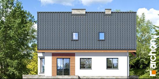 Elewacja boczna projekt dom na polanie 3 p  265