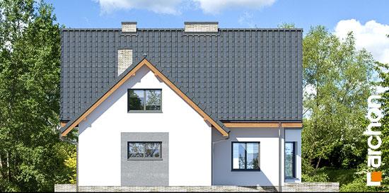 Elewacja boczna projekt dom na polanie 3 p  266