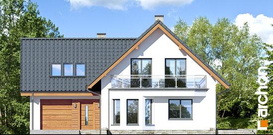 Elewacja frontowa projekt dom na polanie 3 p  264
