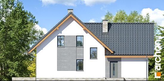 Elewacja ogrodowa projekt dom na polanie 3 p  267