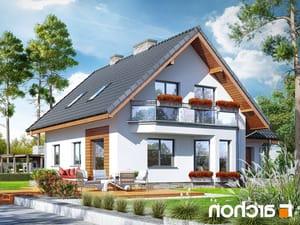 projekt Dom na polanie 3 (P) lustrzane odbicie 2