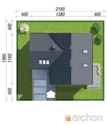 projekt Dom na polanie 3 (P) sytuacja