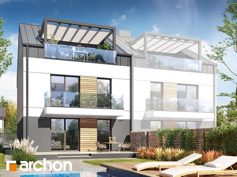gotowy projekt Dom w bratkach 10 (R2B) widok 1