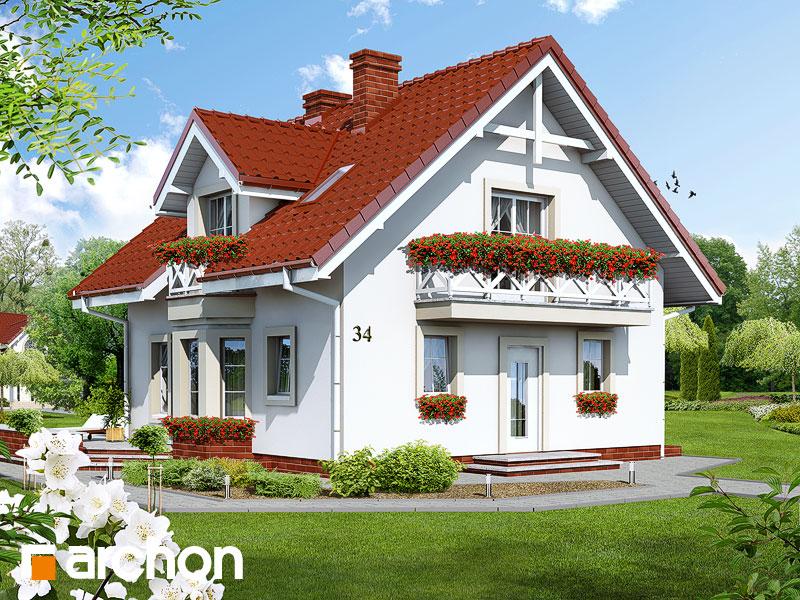 gotowy projekt Dom w rododendronach (P) widok 1