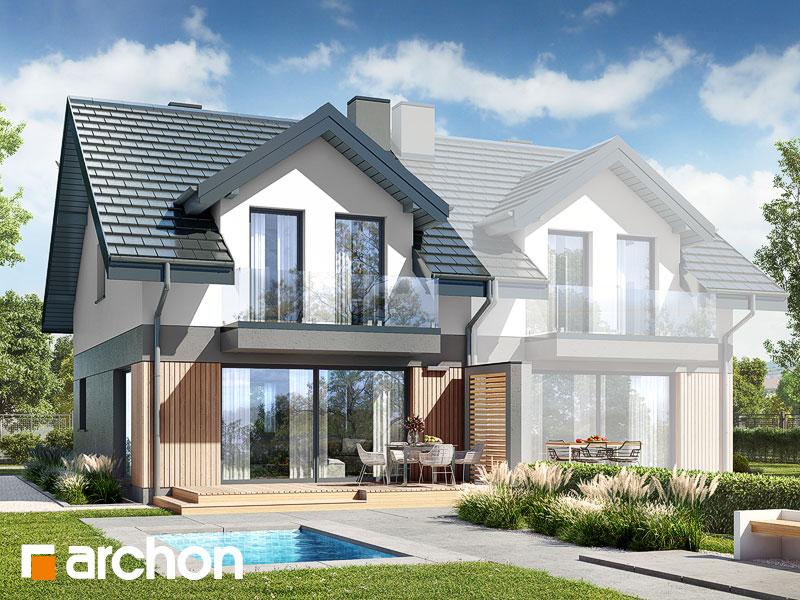 gotowy projekt Dom w klementynkach 2 (B) widok 1