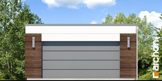 Elewacja frontowa projekt garaz 2 stanowiskowy g21  264