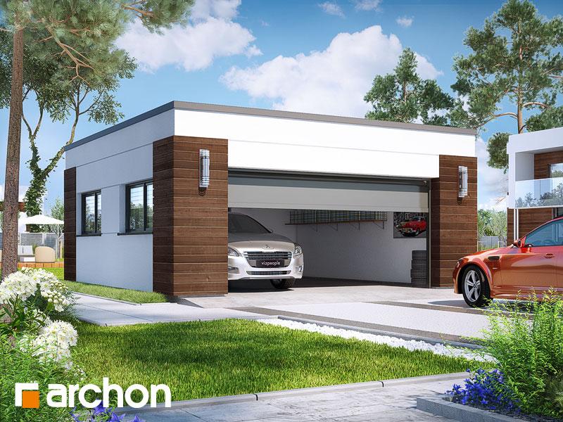 gotowy projekt Garaż 2-stanowiskowy G21 widok 1