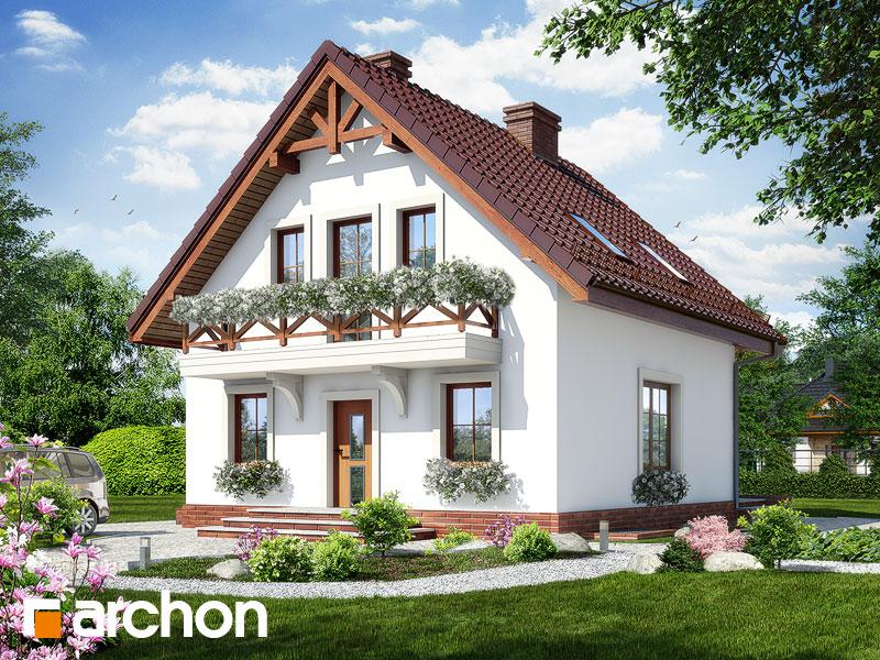 gotowy projekt Dom w rododendronach 11 (P) widok 1