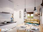 projekt Dom w borówkach (R2) Wizualizacja kuchni 1 widok 3