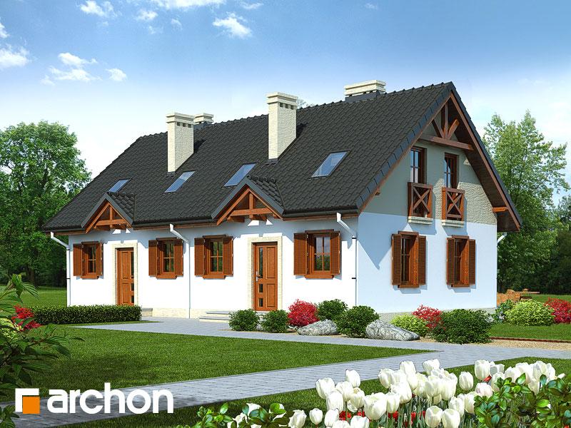 projekt Dom w borówkach (R2) widok 1