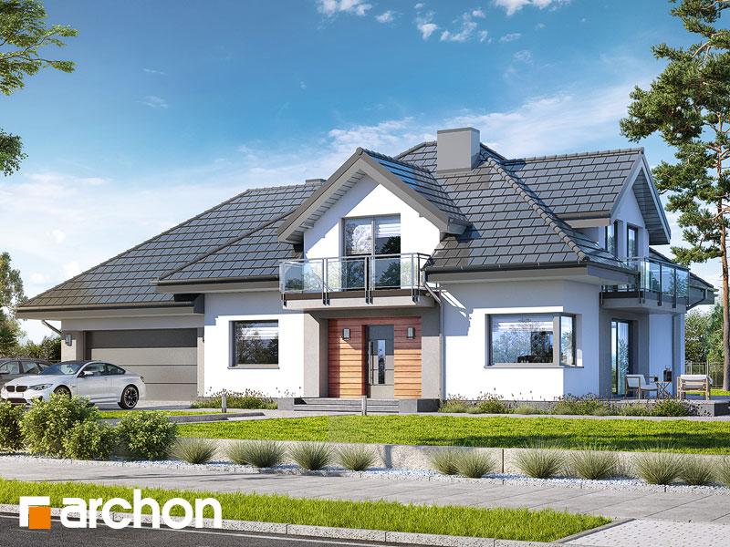 gotowy projekt Dom w topolach (G2) widok 1