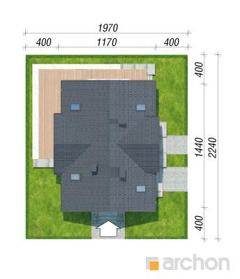 projekt Dom pod soforą 2 sytuacja
