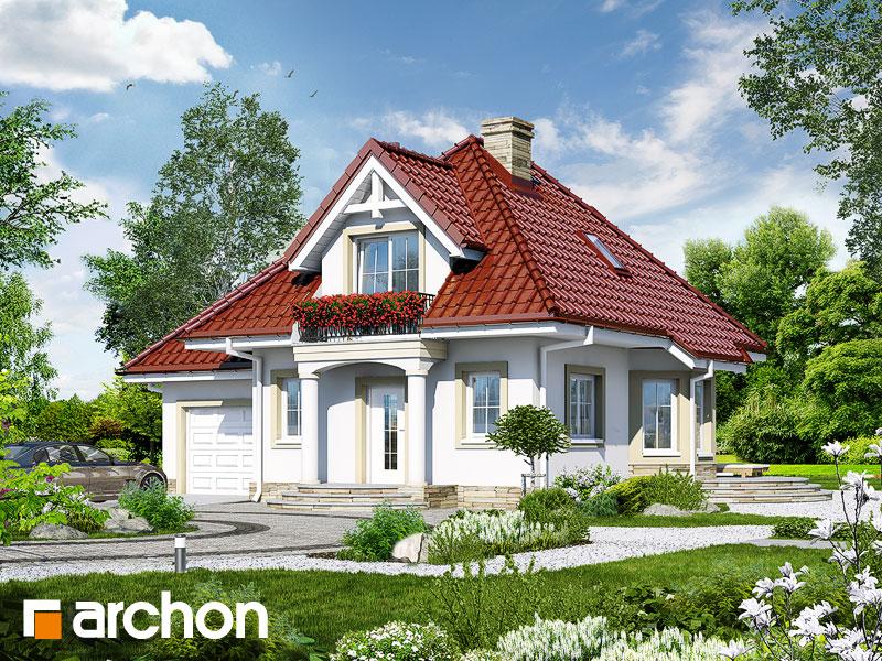 gotowy projekt Dom w winogronach 3 widok 1