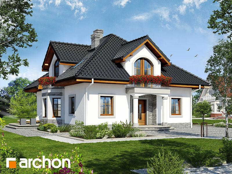 projekt Dom w tymianku 9 widok 1
