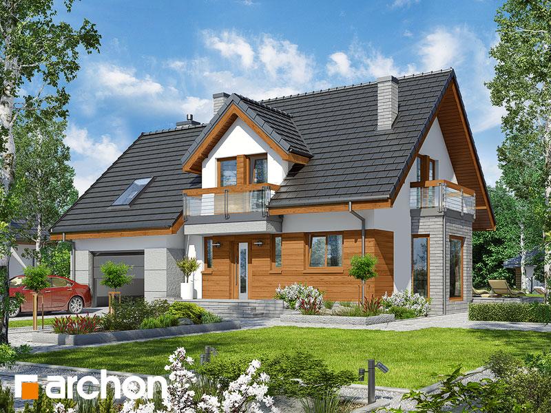 projekt Dom w tamaryszkach 4 (N) widok 1