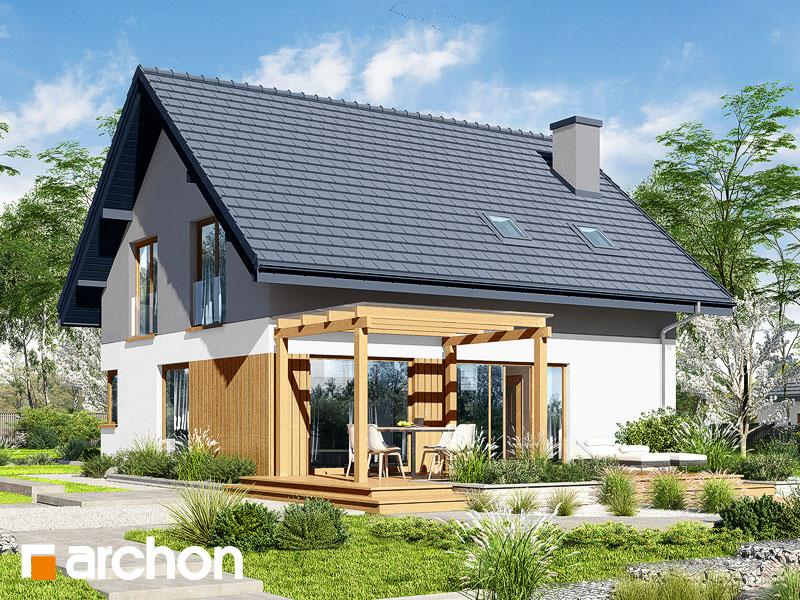 gotowy projekt Dom w złociszkach widok 2