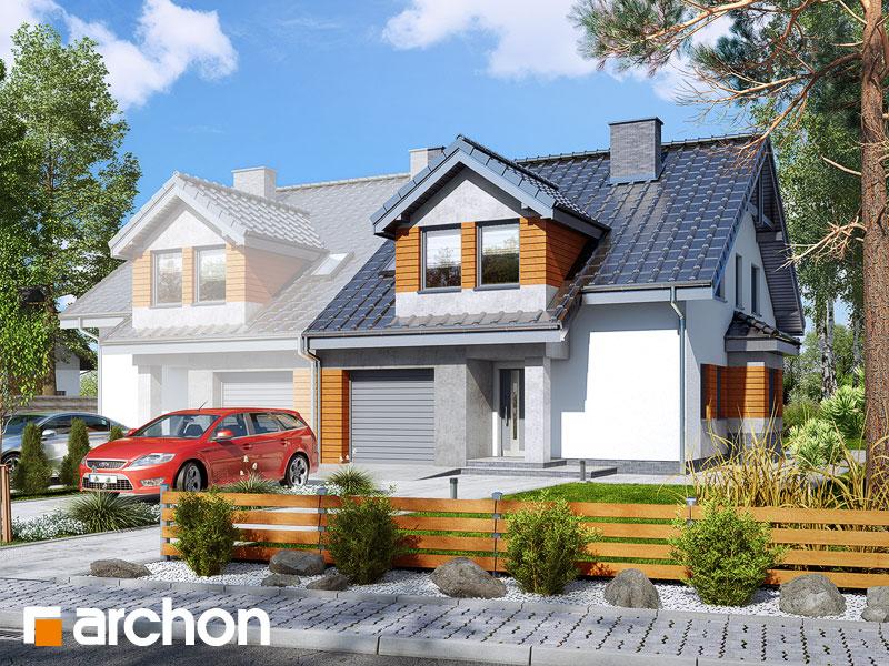 gotowy projekt Dom w klematisach 16 (B) widok 1