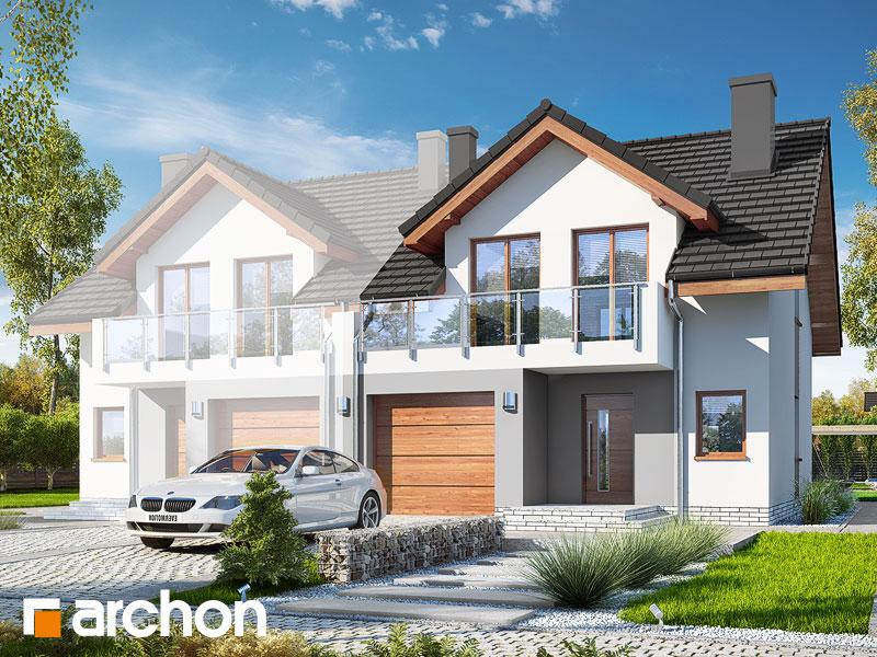 gotowy projekt Dom w klematisach 21 (B) widok 1