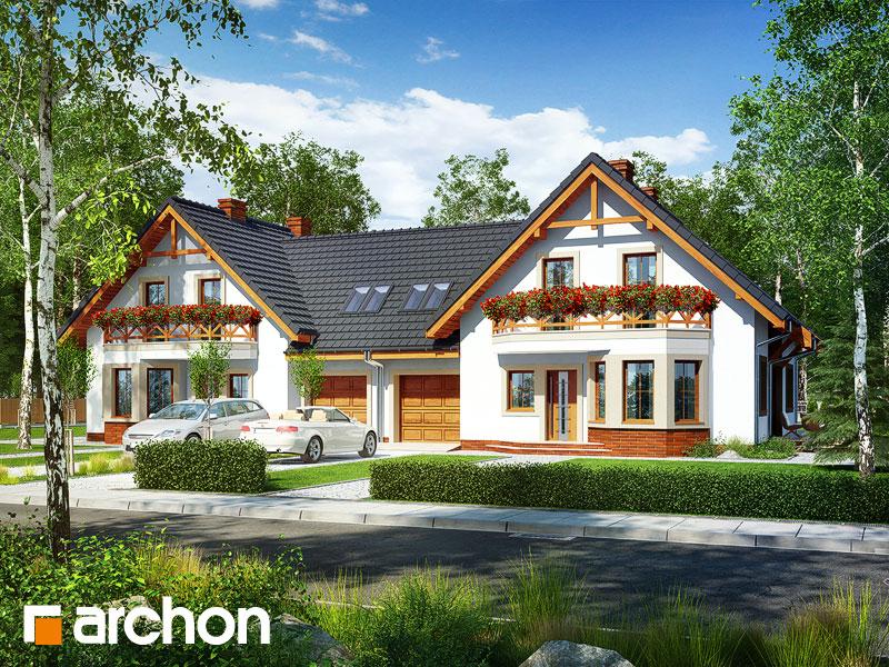 gotowy projekt Dom pod pistacją 2 (R2) widok 1
