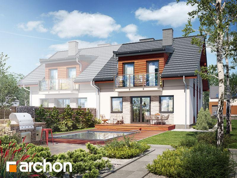 gotowy projekt Dom w gwiazdnicach (B) widok 1