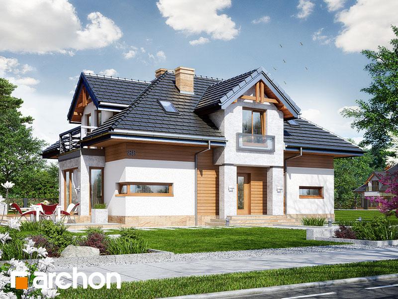 gotowy projekt Dom w salwiniach widok 1