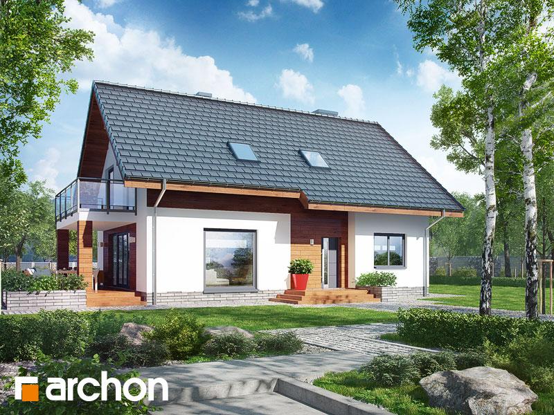 gotowy projekt Dom w zielistkach 4 widok 1
