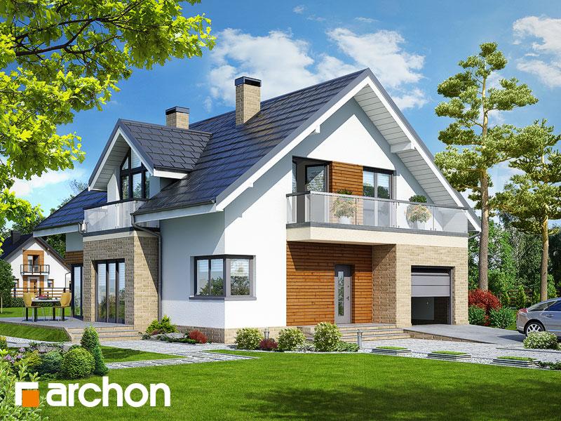 projekt Dom w tymianku 5 (T) widok 1